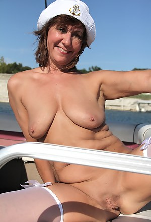 On boat moms mature